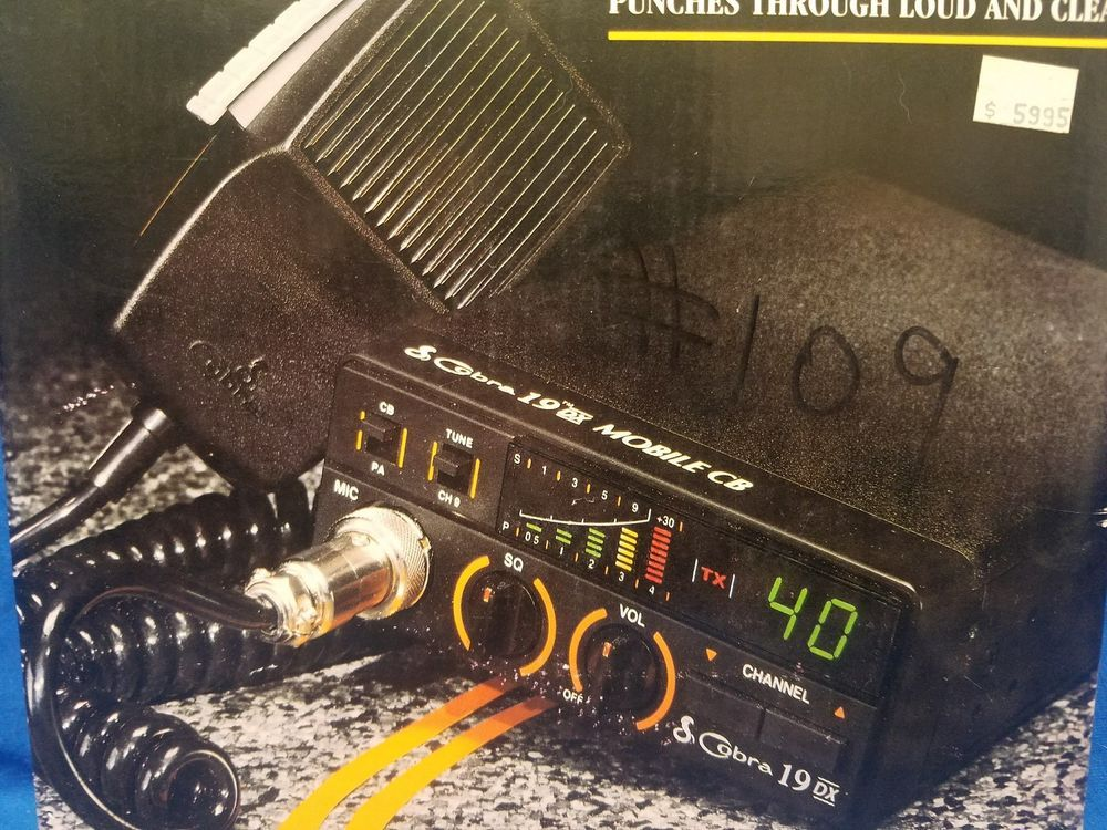 Cobra 19 DX 40 Channel CB Radio-Still In Box Tested and Working