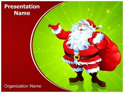Download #Santa #Claus #Snowfall #PowerPoint #Template for your - christmas powerpoint template