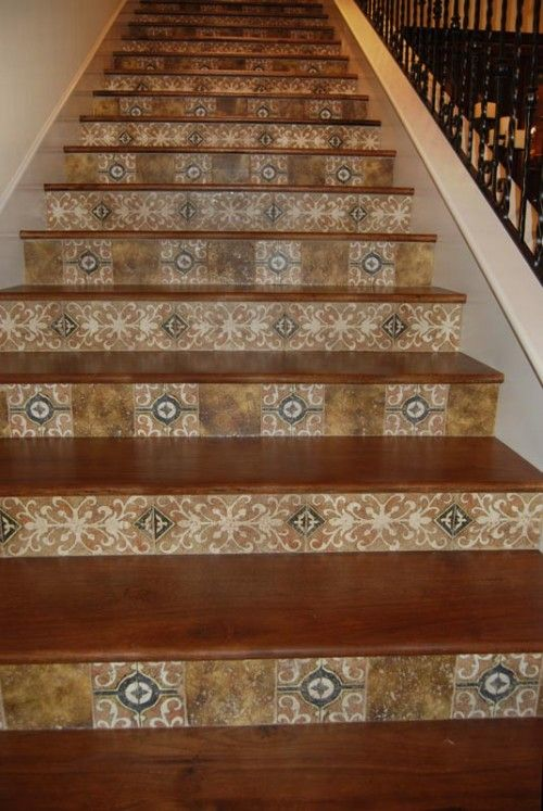 Best Wood Stairs With Tile Backsplash What A Beautiful And 400 x 300