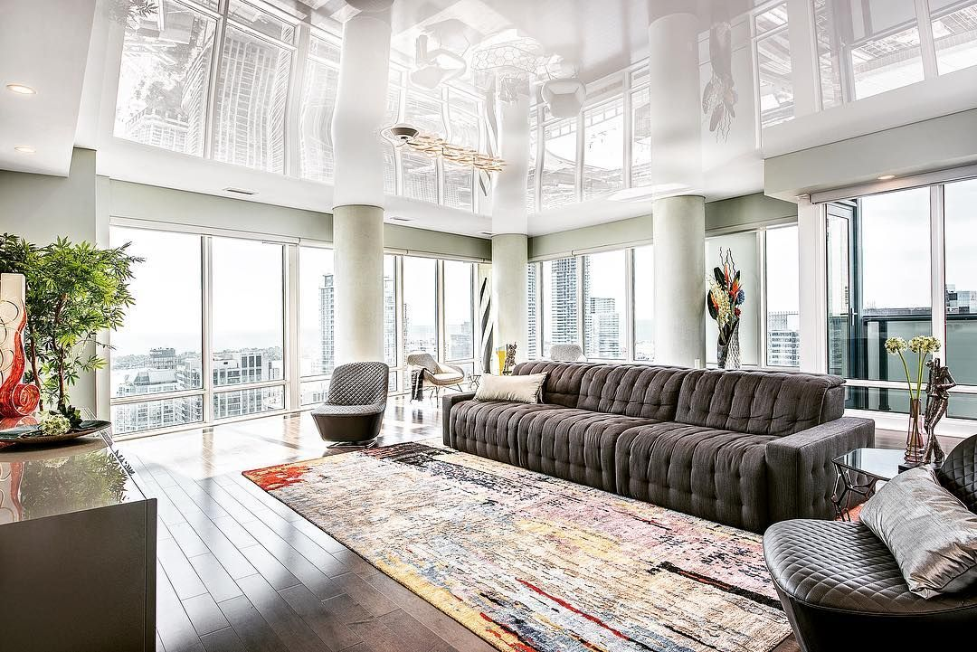 Did you know that #highgloss stretch ceilings can visually ...