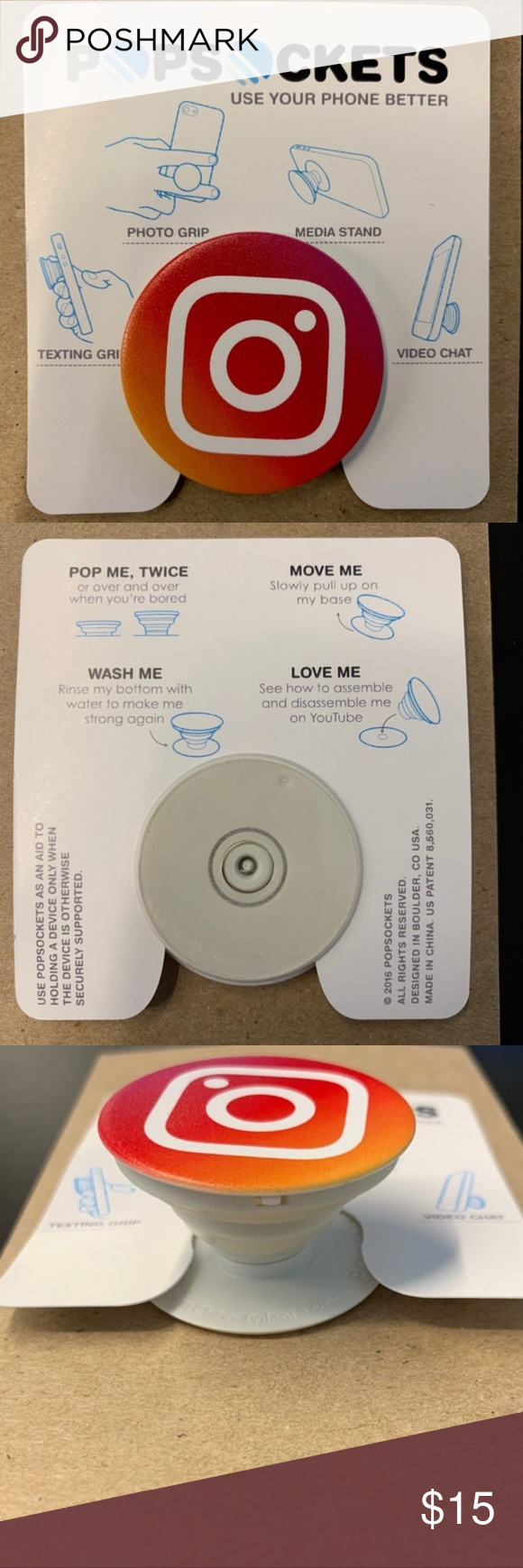 New PopSockets Instagram Logo NWOT PopSockets • Original