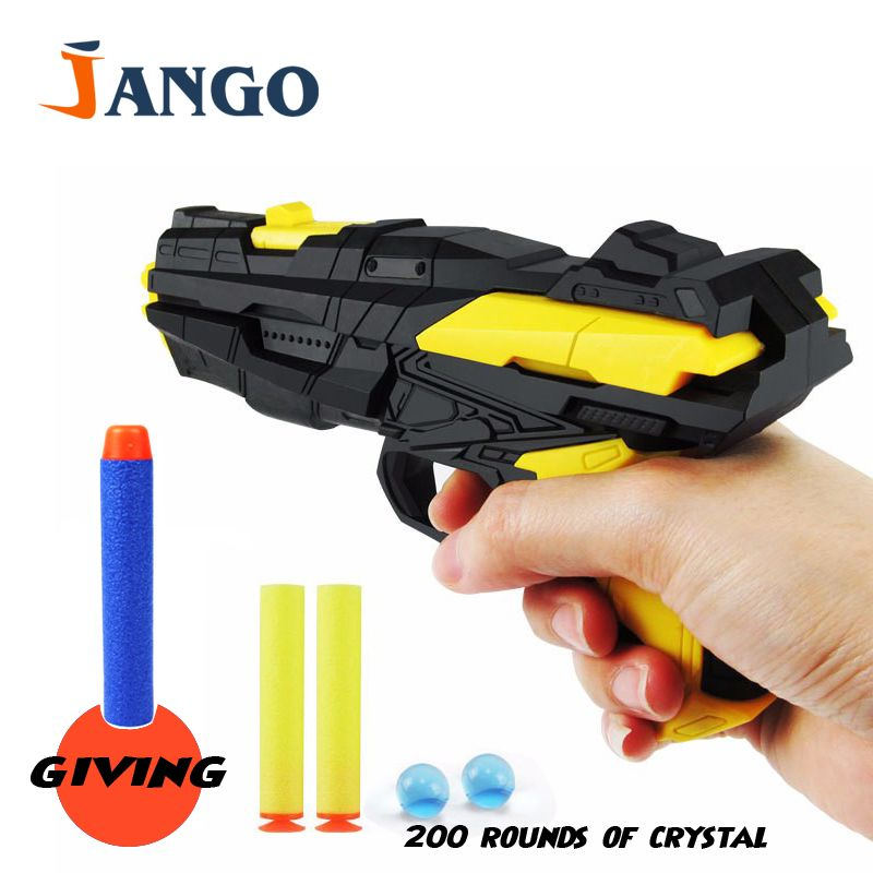 Paintball Nerf Gun Pistol & Soft Bullet Gun Plastic Toys CS Game Shooting  Water Crystal Gun