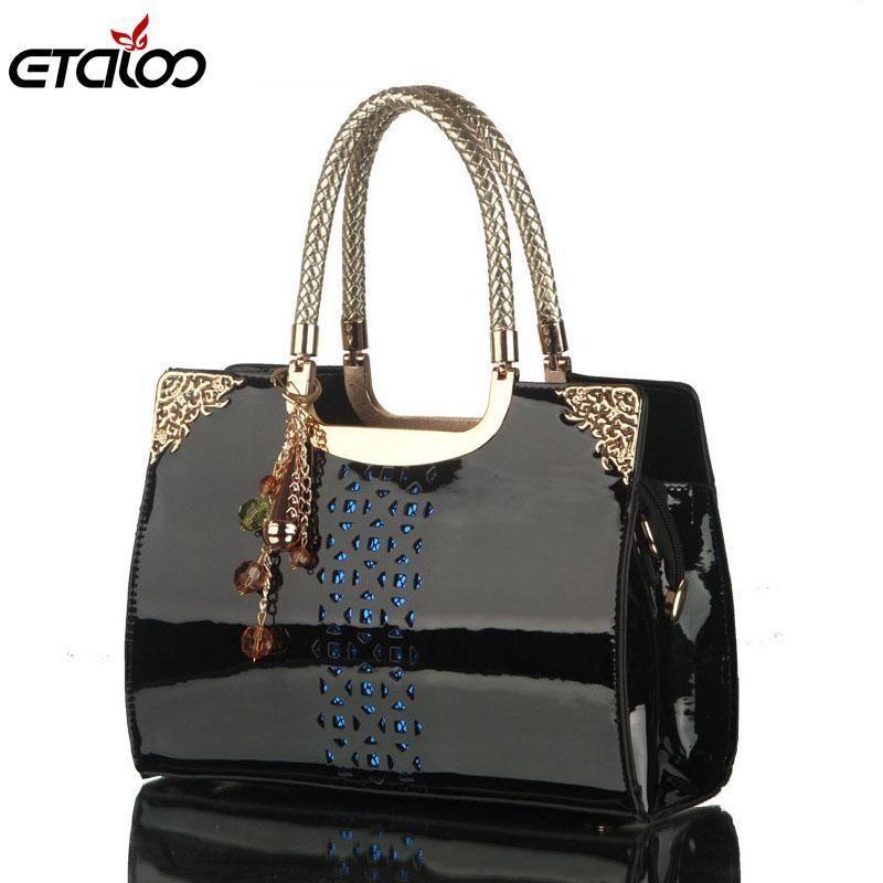 8365c4a58794 Women leather handbags women bag the new brand handbag patent Korea fashion  single shoulder bag