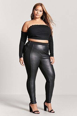 3b5f0fed943b6 Plus Size Faux Leather Leggings | Products | Leather leggings ...