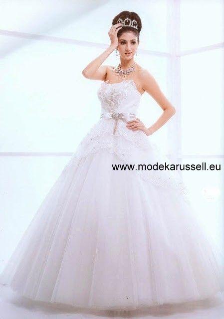 Kuppel Ballkleid - Brautkleid - Hochzeitskleid 34 36 38 40 weiss ...