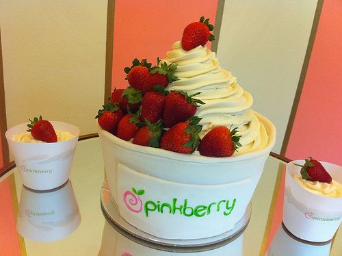 I'd rather have pinkberry than wedding cake any day <3