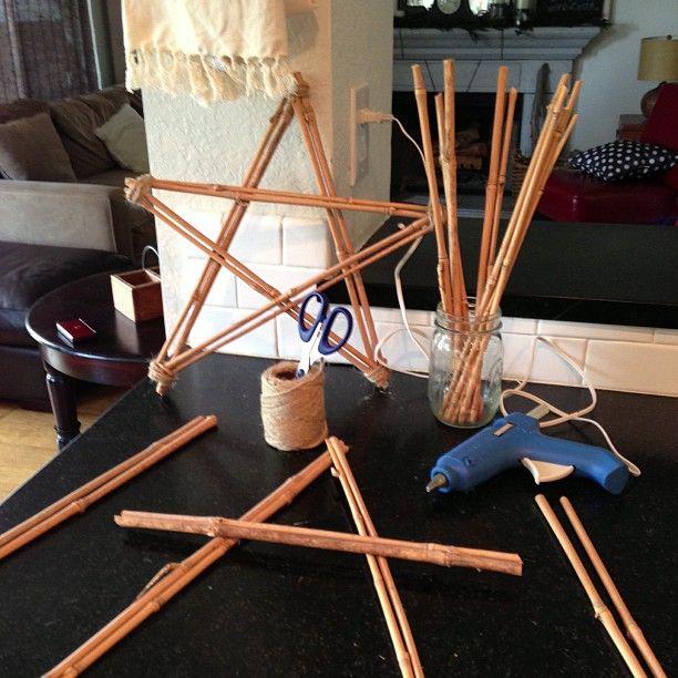 Make Christmas Stars Out Of Bamboo Sticks Bamboo Diy