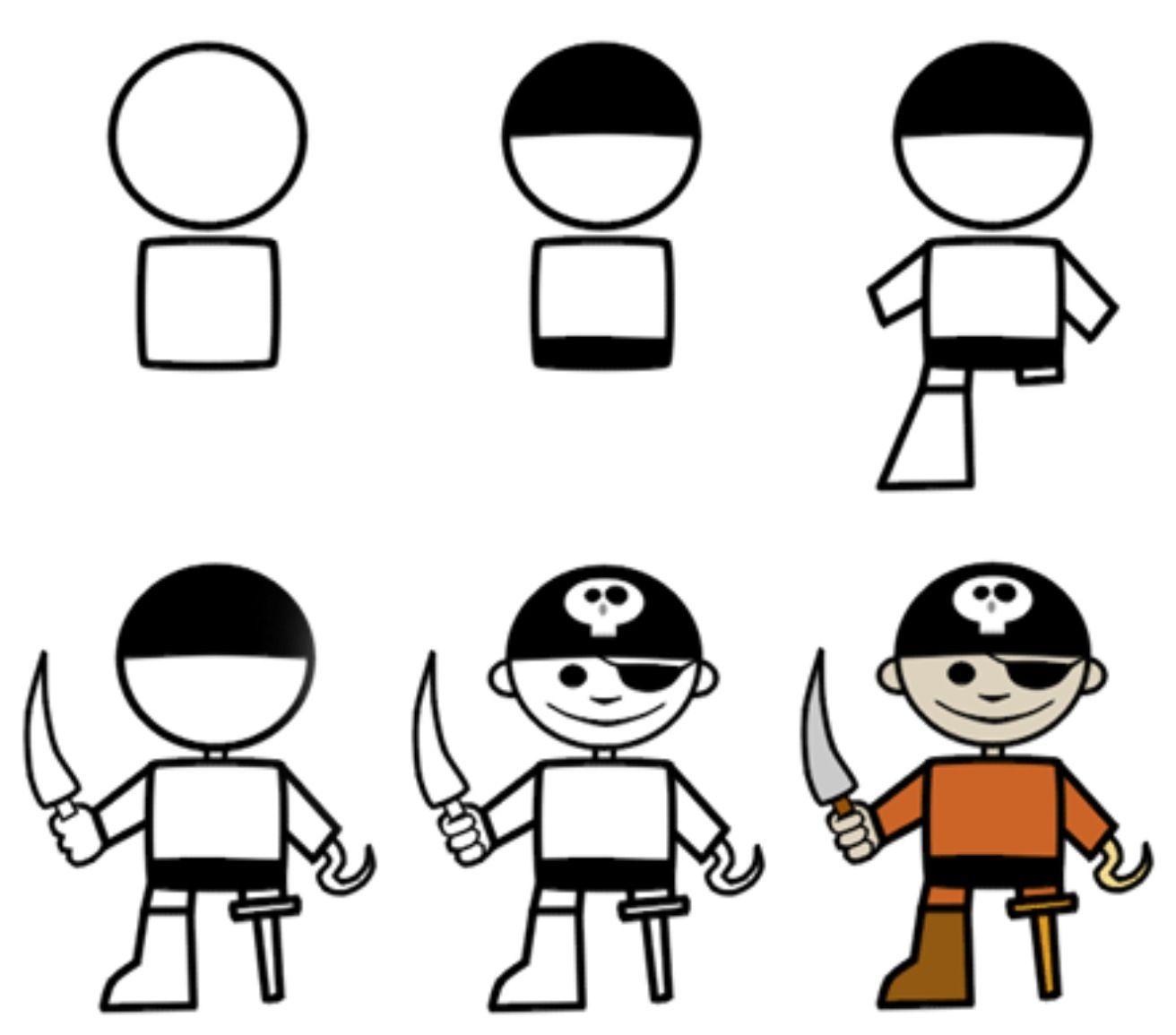 Pirates Cartoon Drawings Easy Drawings Easy Cartoon Drawings