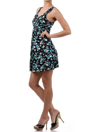 Floral Joy Mini Dress - $30.60 at DressesHabitat.com - #DressesHabitat #FashionHabitat