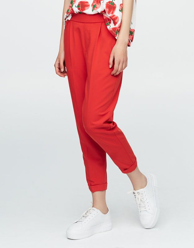 L2017 Https Www Pullandbear Com Pl Dla Niej Odziez Spodnie Spodnie Jogger Typu Tailoring C29021p500288782 Html Newcollection Pants Fashion Harem Pants