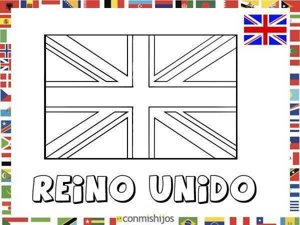 Bandera de Reino Unido. Dibujos de banderas para pintar | Kinder ...
