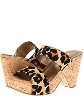 VANELi Animal-Print Haircalf Cork Wedge Sandal