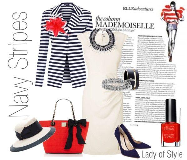 Navy Stripes   Lady of Style
