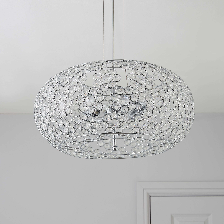 Avella Crystal Bead 2 Lamp Pendant Ceiling Light