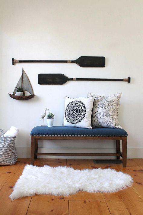 Oars wall decor pair of decorative painted oar also  rh pinterest