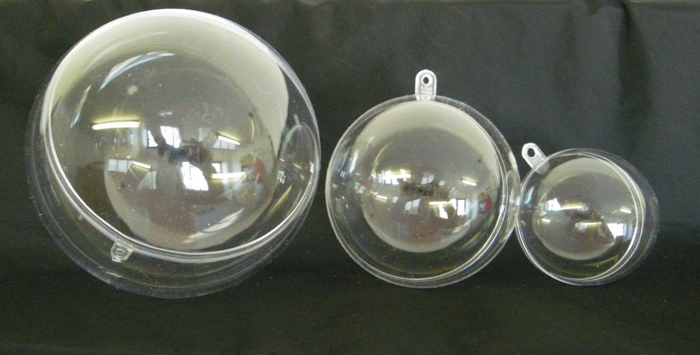 Details About Clear Plastic Baubles-round Fillable