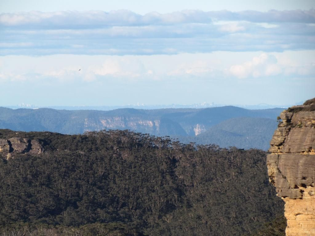 The Blue Mountains with Sydney on the horizon :)