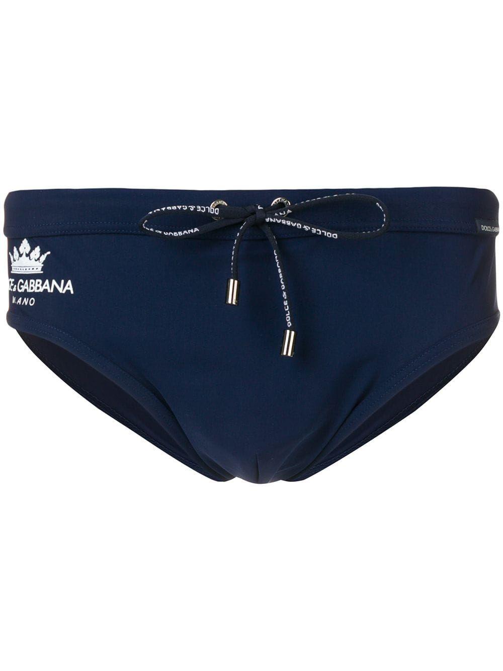 569c66d7ca Dolce & Gabbana logo swim trunks - Blue in 2019   Products   Dolce ...