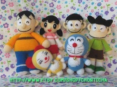 Amigurumi Doraemon Pattern : Doraemon and friends pdf amigurumi crochet pattern amigurumi