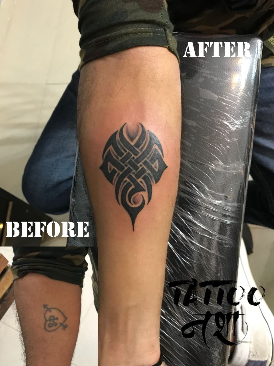 Cover Up Tattoo Tribal Tattoo Tribal Tattoo Design By Anurag Chouhan Tattoo Nasha