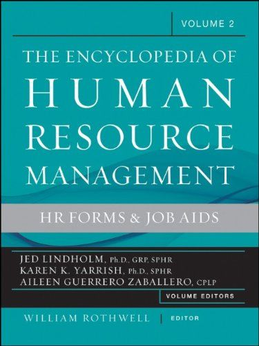 encyclopedia of human resource management  human resources and employment forms  volume 2