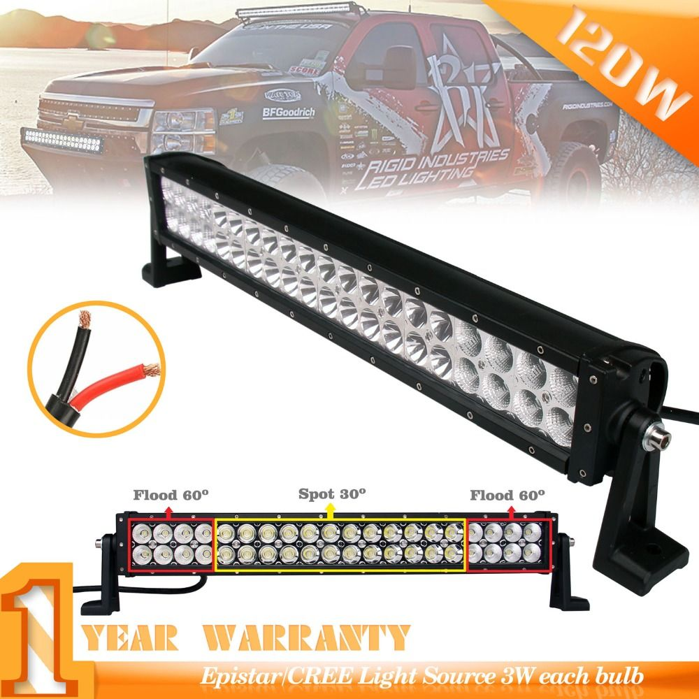 22inch 120w Led Light Bar Black Combo Beam For Jeeputvatv Wiring Lampu Tl Jeeputvatvautomobiles