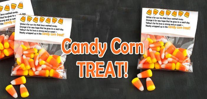 Halloween Outreach Idea Candy Corn Treat Bag Topper Candy Corn Christian Halloween Treat Bags