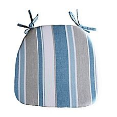 Image Of Park B Smith Julian Stripe Chair Pad In Blue