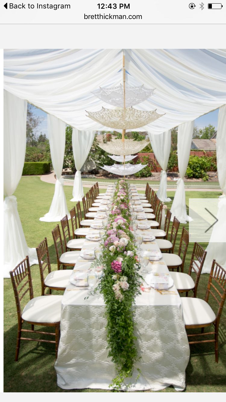 Garden event decor  Love the Decor  tABLE SETTING  Pinterest  Bridal showers