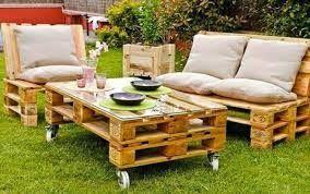backyard with pallets