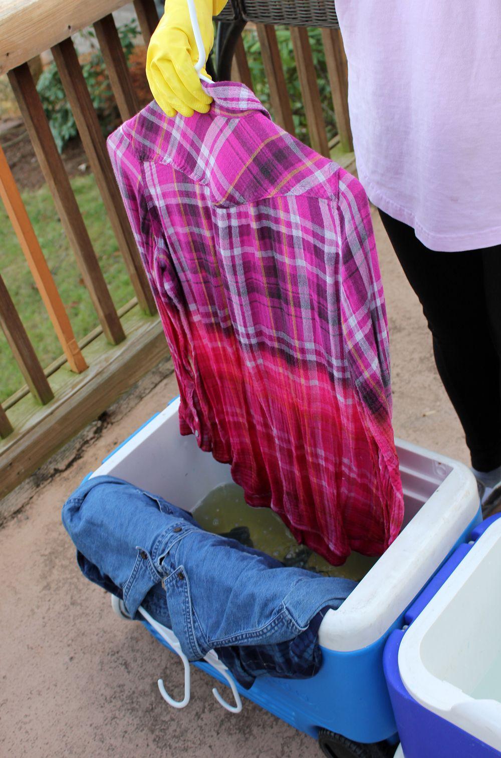 Diy bleached flannels bleach shirts bleaching clothes