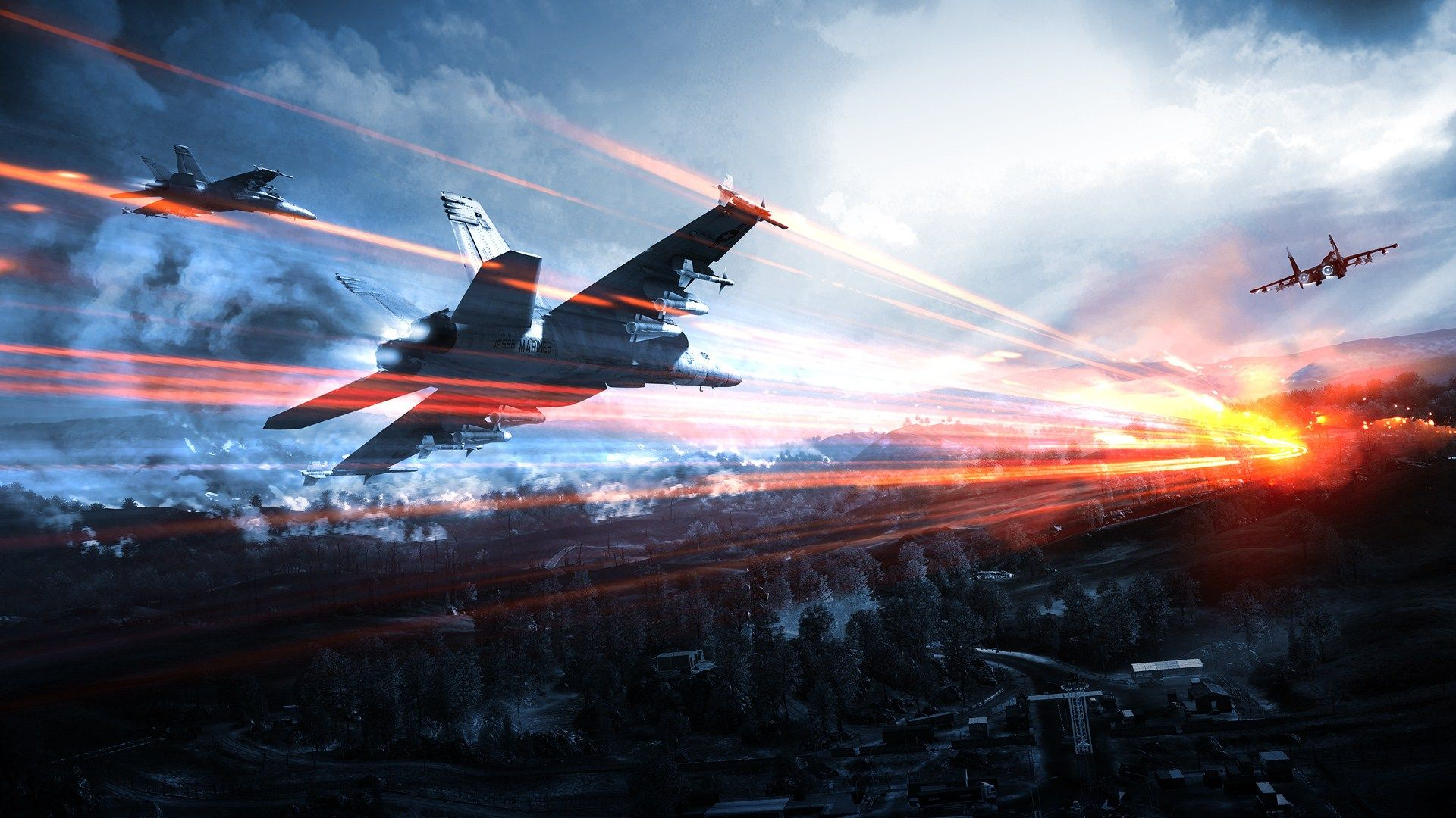 Game Battlefield 3 Fighter Jets Incoming Missiles Wide Hd Wallpaper Wallpapersme Battlefield Hd Wallpaper Fighter Jets