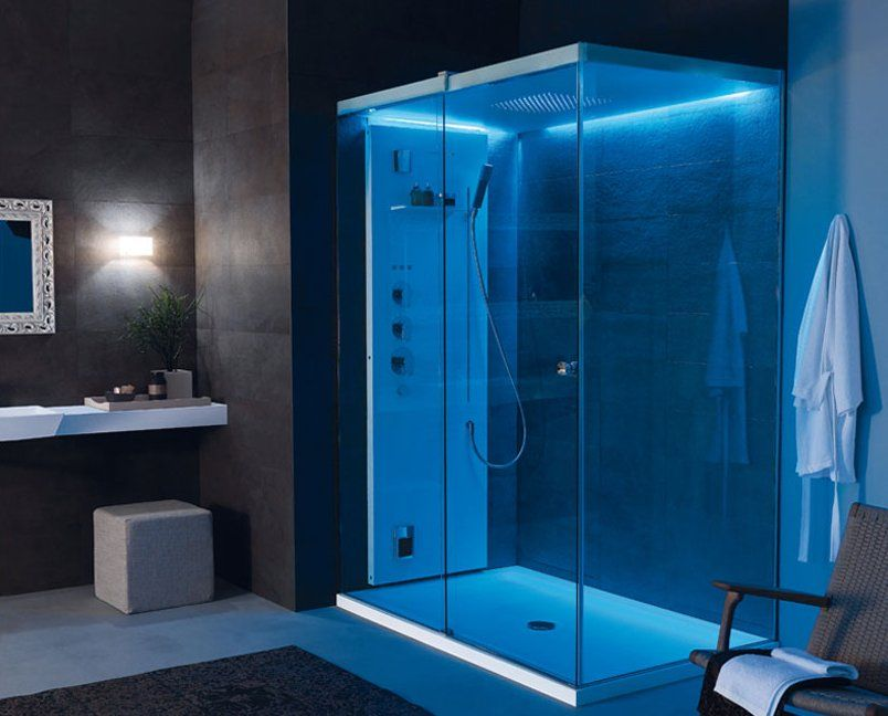 Light By Tueco Is A Completely Enclosed Shower Stall Bathroom