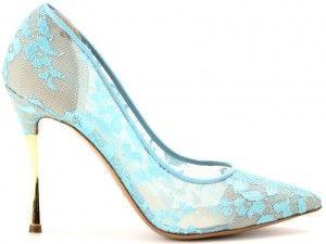 Nicholas Kirkwood Fall 2013 Pointed-Toe Sheer Lace Pump