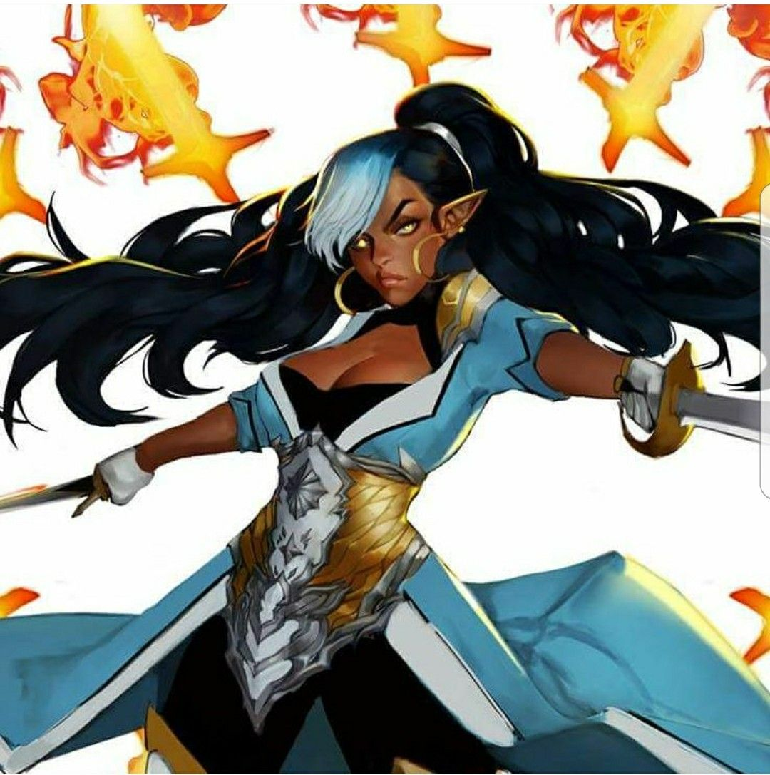 Pin on Black Female Fantasy Characters