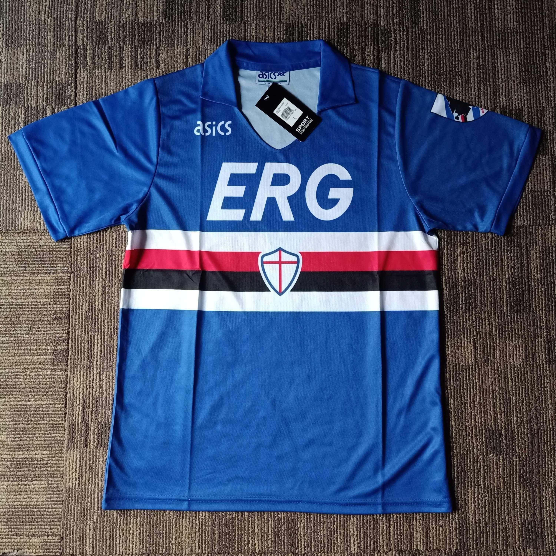 1990 91 Sampdoria Home Shirt In 2020 Classic Football Shirts Shirts Sports