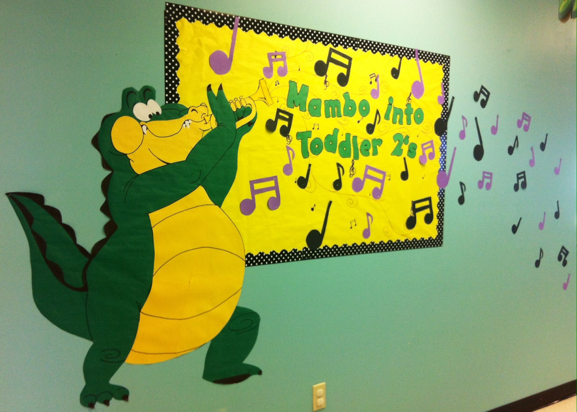 Mambo Into Toddler Twos Mardi Gras Bulletin Board