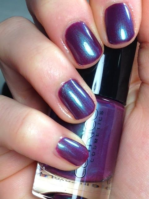 "Catrice berry potter & plumbledore - a beautiful bright violet shade with blue sparkles for a wonderful iridescent effect. I recommend covering with their ""Gel Like Top Coat"" for a mirror shine that's long lasting too"