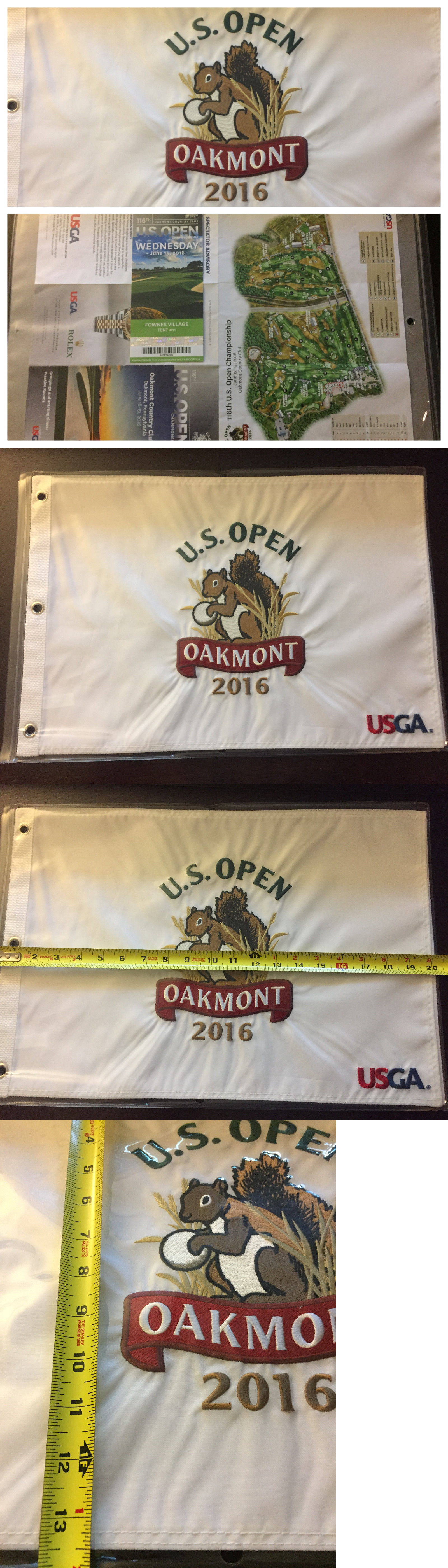 Golf US Open Embroidered Golf Flag Oakmont Cc New - Us open map 2016