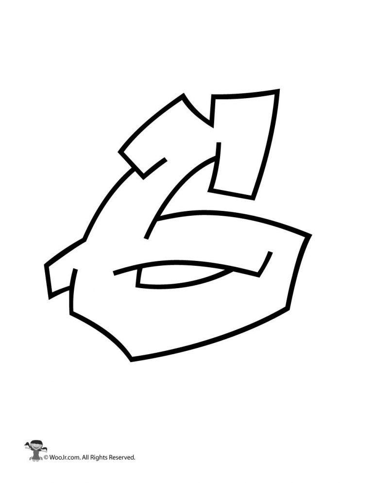 graffiti number 6 graffiti numbers bubble letters alphabet jr