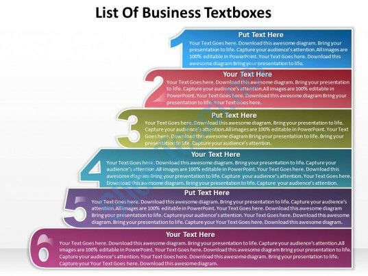 business powerpoint templates list of textboxes sales ppt slides, Presentation templates