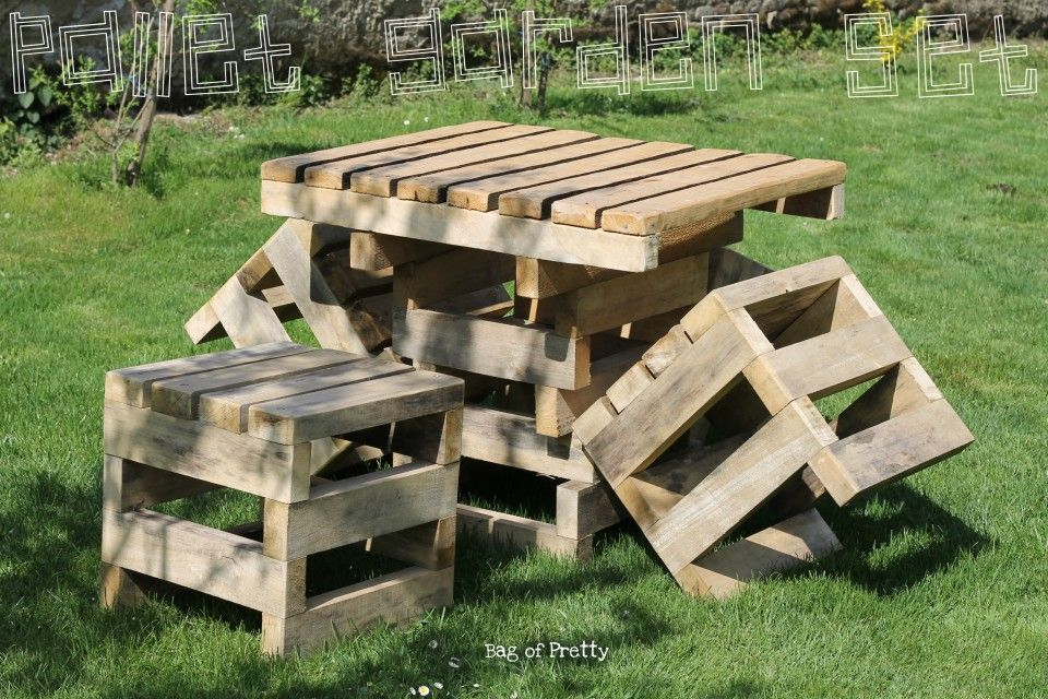 This pallet garden furniture belongs to my 80-something years old grandma.  What can I say, my grandma is open minded and she loves to be called cool  by us, ... - This Pallet Garden Furniture Belongs To My 80-something Years Old