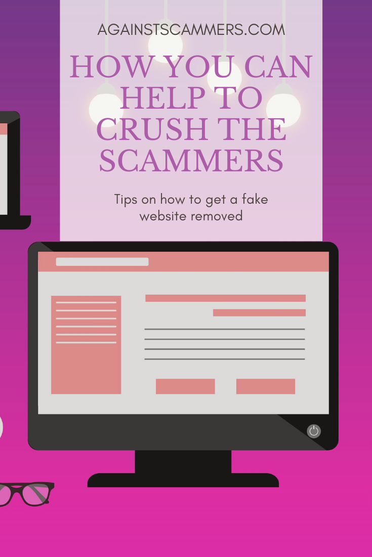 How to get a fake website removed in 2020 Website design