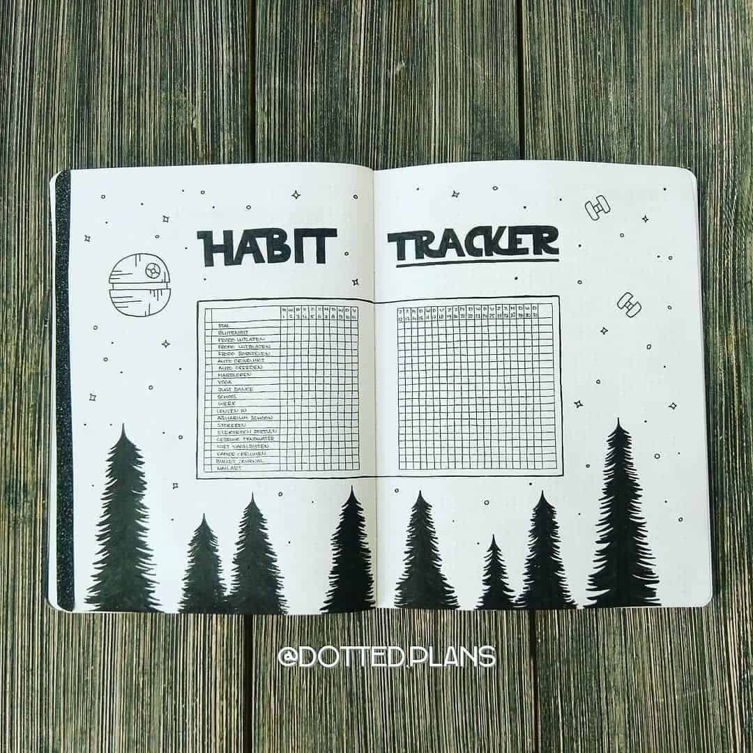 65+ Amazing Star Wars bullet journal theme ideas | My Inner Creative