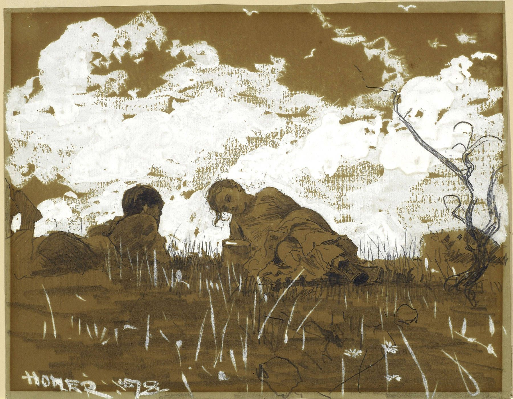 Winslow Homer Watercolors | Winslow Homer - Two Children in a Field, 1878, Page 2
