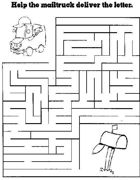 Maze Page - Print your free maze at AllKidsNetwork.com | children\'s ...