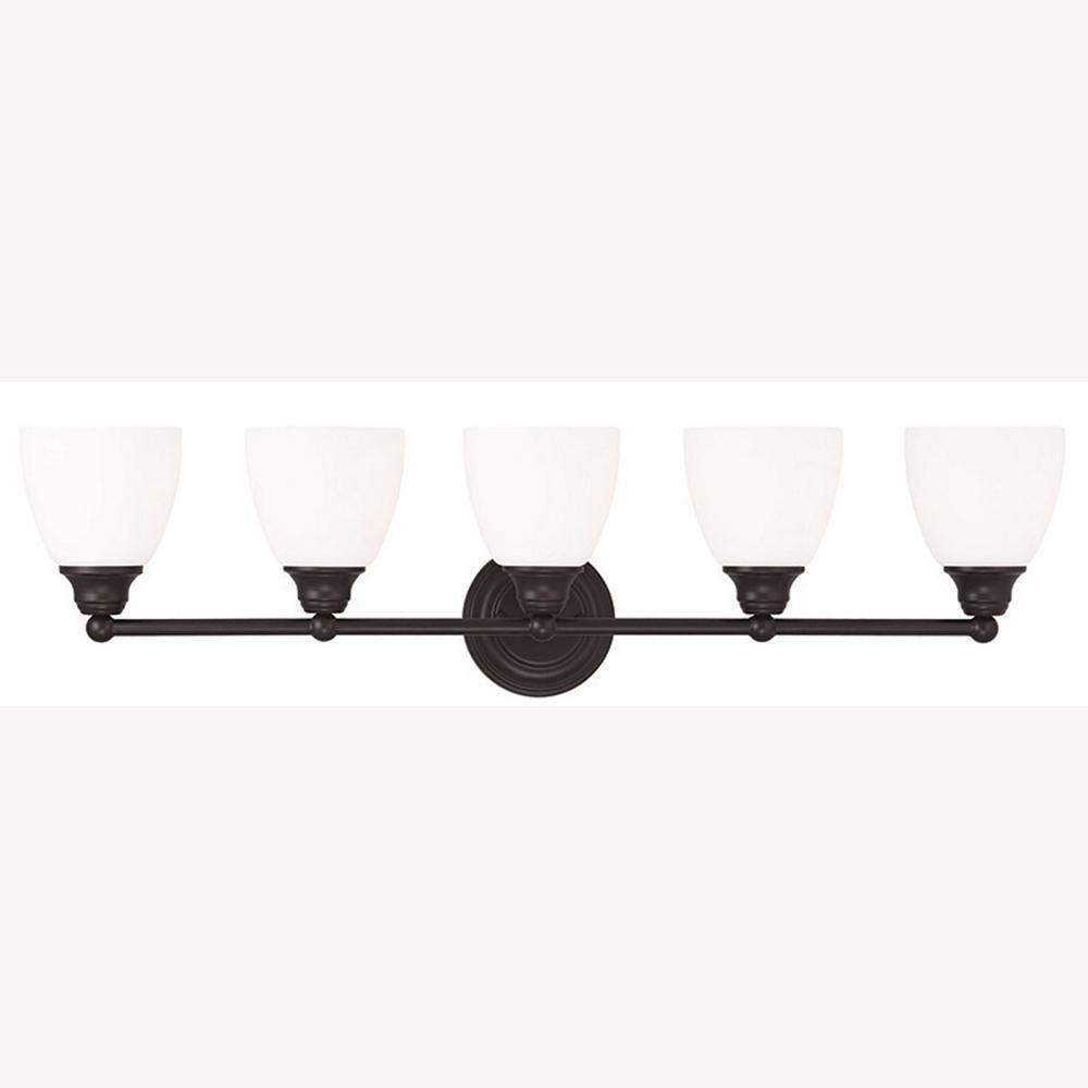 Photo of Livex Lighting Somerville 5-light bronze bathroom light 13665-07 – The Home Depot