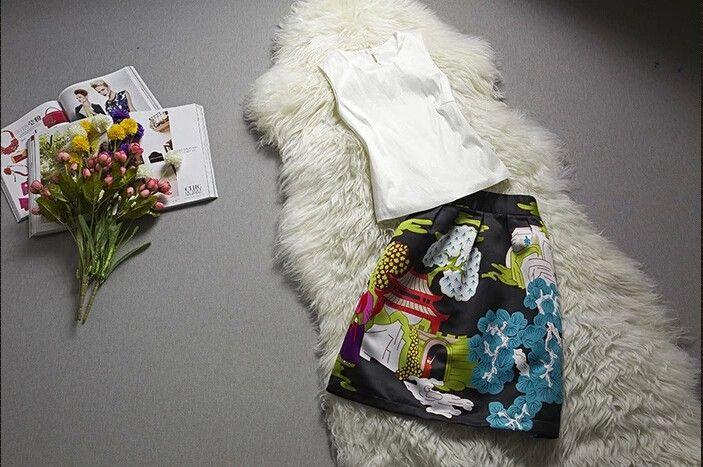 $45.02 Europe and America Leisure Blending Sleeveless Shirt Printing Carton Skirt Set http://www.eozy.com/europe-and-america-leisure-blending-sleeveless-shirt-printing-carton-skirt-set.html
