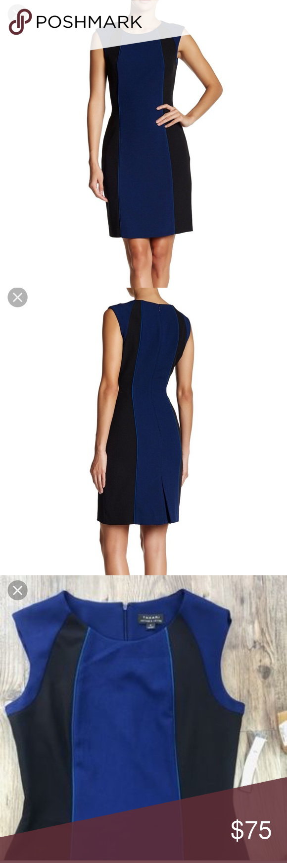 d79269e6 NWT Tahari Color-block Sheath dress Tahari Arthur S. Levine Color-block  sheath dress. Excellent for the professional woman. PRODUCT FEATURES Style  6229M621 ...