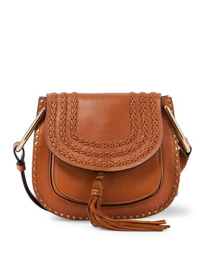 cec9af507c46 Chloe calfskin and napa lambskin shoulder bag. Studs frame exterior of  horseshoe-shaped body. Adjustable shoulder strap with large U-shaped rings.